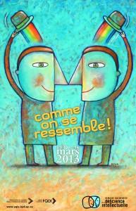 Poster for the Semaine québécoise de la déficience intellectuelle