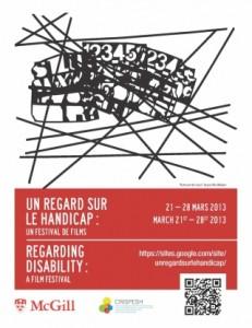 Poster for Regarding Disability Film Festival