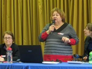 Laure Frappier sur le panel du forum Dans la Mire., Cliquer pour voir en grand et pour avoir accès à une description