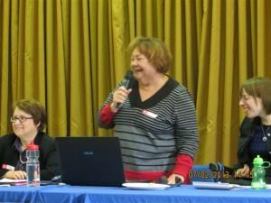 Laure Frappier, co-présidente de l'Alliance des femmes handicapées du Québec, Cliquer pour voir en grand et pour avoir accès à une description