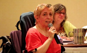 Maria Barile, speaking at the June 19th press conference.