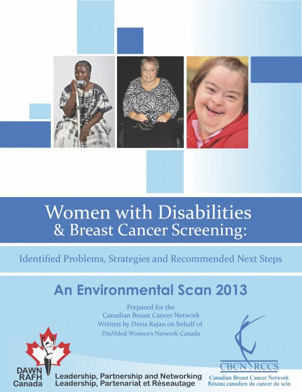 Three images of women with disabilities on a blue background.