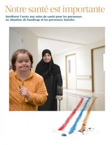Image de l'atelier 'Notre santé est importante!' avec deux femmes en situation de handicap dans la photo.