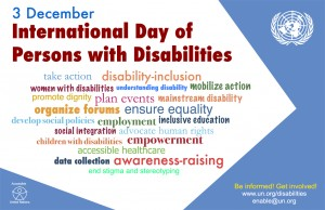 International Day for Persons with Disabilities poster from the UN
