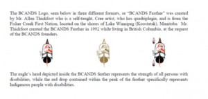 History of BCANDS logo, Click to enlarge and to access description.